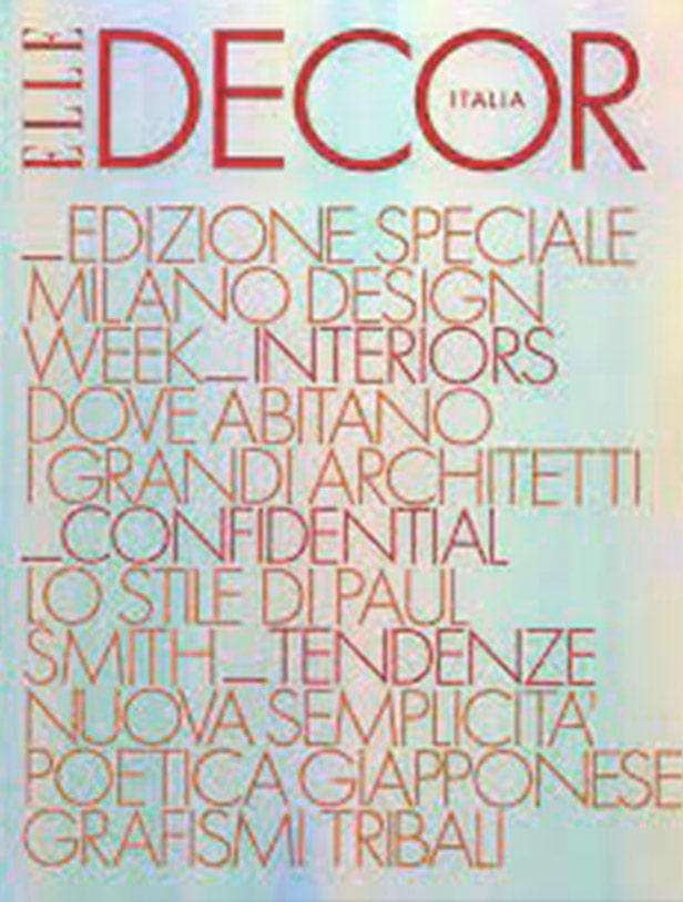 Press Domenico Orefice Elle Decor Maggio 2007