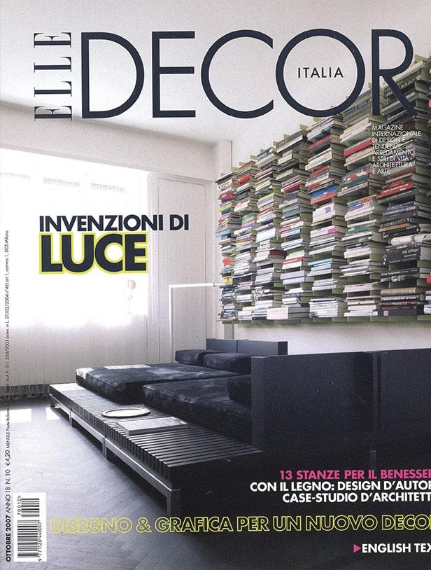 Press Domenico Orefice Elle Decor Ottobre 2007