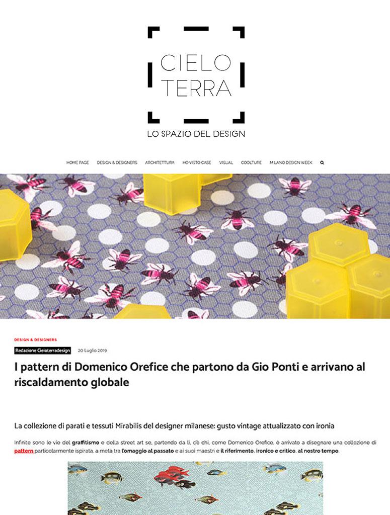 Press Domenico Orefice Cieloterradesign 2019