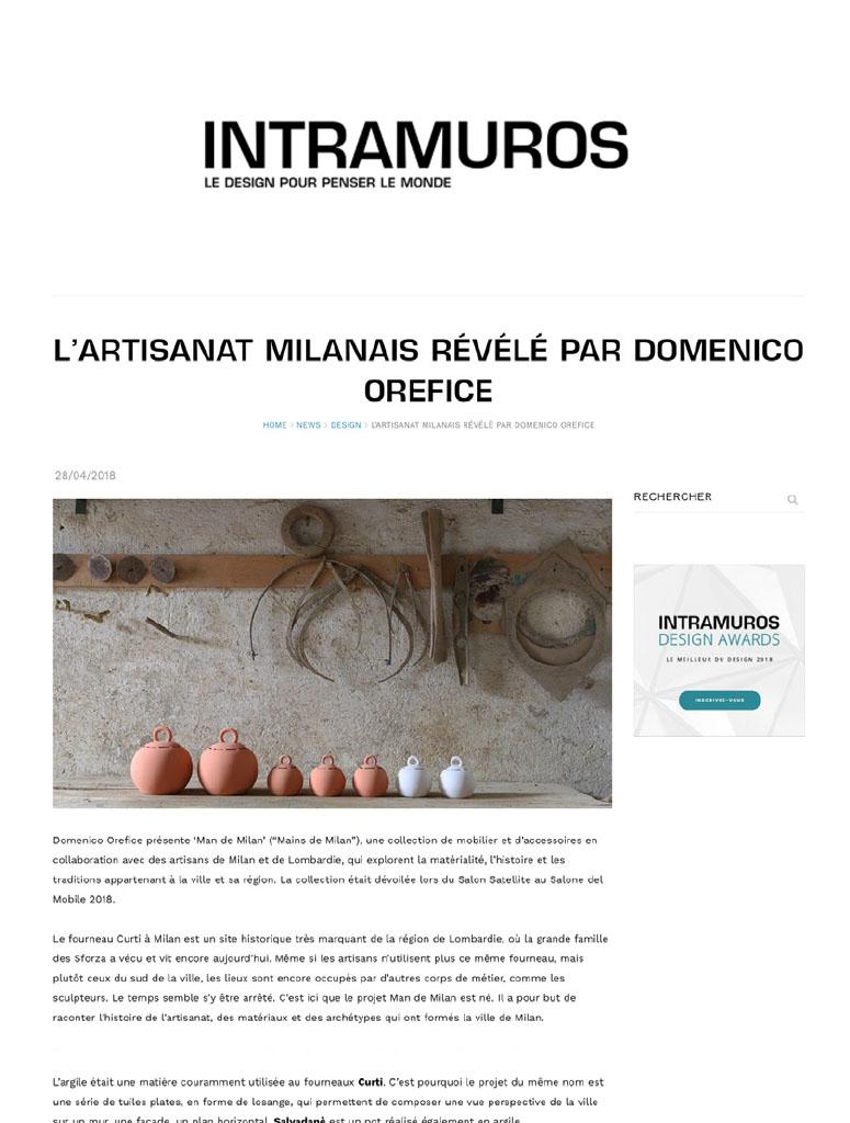 Press Domenico Orefice Intremuros 2018