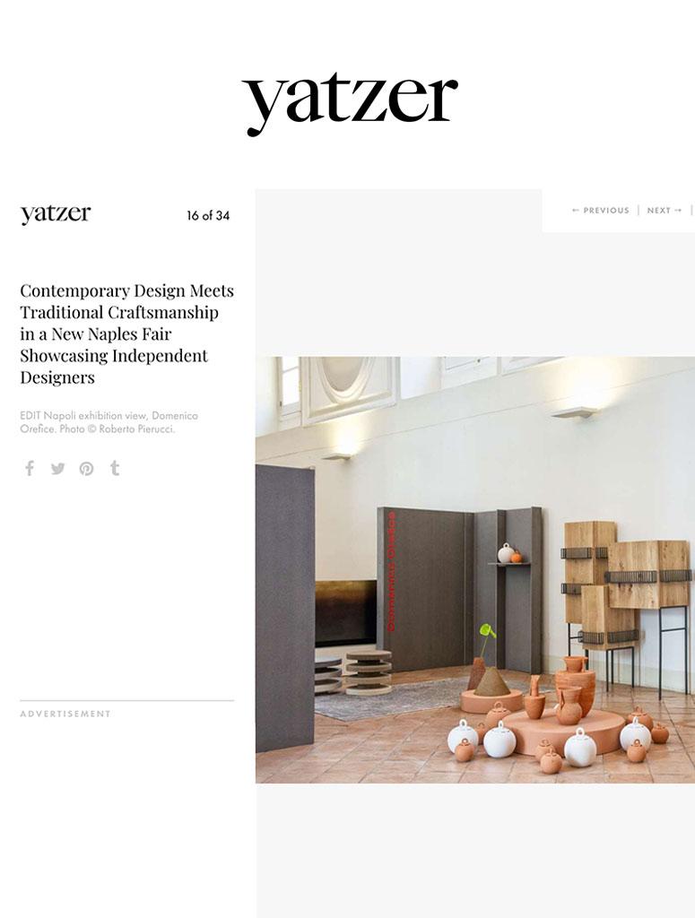 Press Domenico Orefice Yatzer 2019